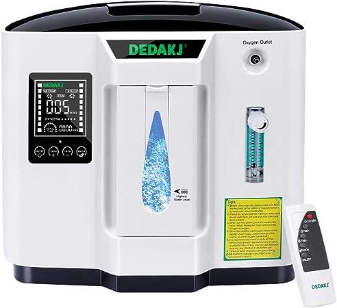 110V DEDAKJ 1-6L//min Adjustable Oxygen Machine Accessories with Oxygen Tubing