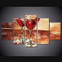 YOUHUAGE HD Stampato Bicchieri da Vino Ciliegia Ghiaccio Dipinto su Tela Stampa Room Decor Manifesto Stampa Foto su Tela