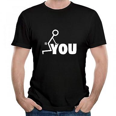 Amazon.com  Adult Fk You Cheap Graphic Mens T-Shirt O-Neck Tees ... e9a12de4fc1d