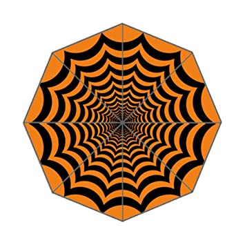 Xinzuo hipnótico de telaraña Halloween paraguas compacto anti-UV plegable paraguas