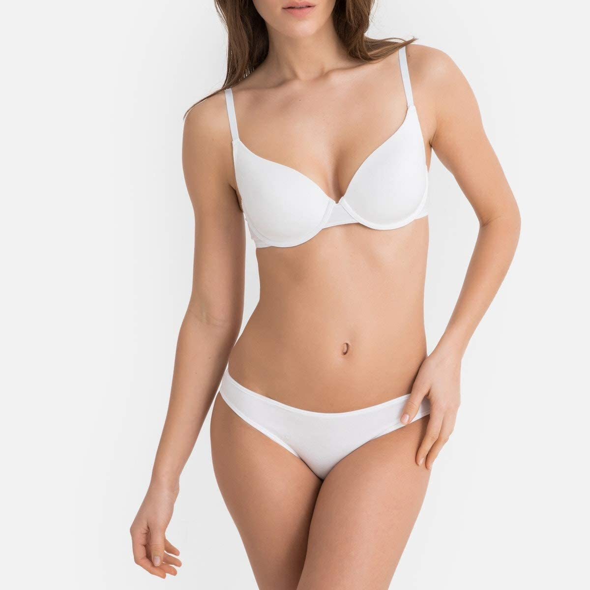 La Redoute Collections Womens Padded Cotton Bra