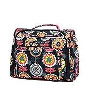 Ju-Ju-Be Classic Collection B.F.F. Convertible Diaper Bag, Dancing Dahlias