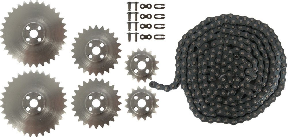 Pitsco TETRIX Aluminum Sprocket and Chain Pack BG39174