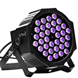 Black Light, U`King 36LED UV Par Lights Glow Effect by DMX Control for Blacklight Party Birthday Wedding DJ Stage Lighting