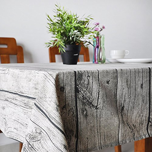 Uphome Natural Wooden Pattern Tablecloth
