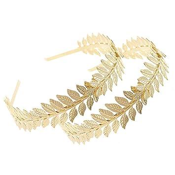 Wedding Bridal Gold Leaf Branch Crown Fashion Party Hair Band Hair Accessories
