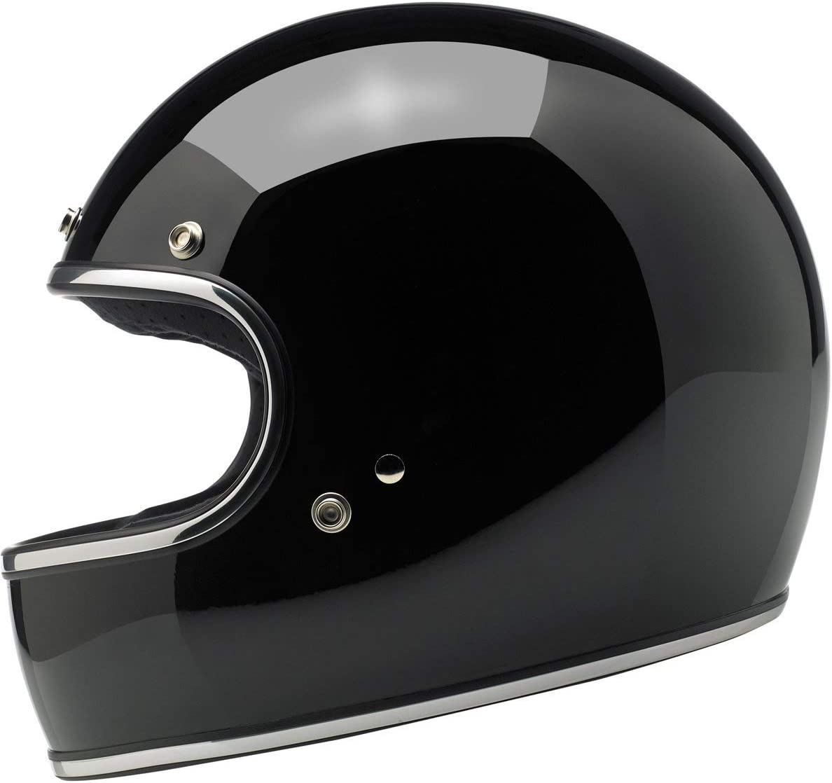 Medium//DOT//ECE Biltwell Gringo Helmet Brite Silver Mega Flake