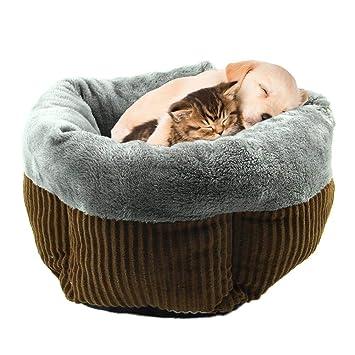 Saco de Dormir para Mascota con Cama Acolchada para Perro y Gato Redondo, otoño e Invierno, súper Suave, cálido y Grueso, de Pana: Amazon.es: Productos para ...