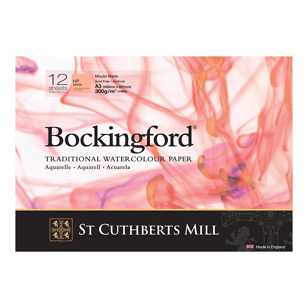 A3 Curtisward Bockingford Hot Press Watercolour Paper Pad Smooth Artists Paper