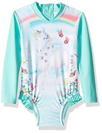 136d0022b3d82 Amazon.com  Seafolly Girls  Long Sleeve Surf Tank One Piece Swimsuit   Clothing