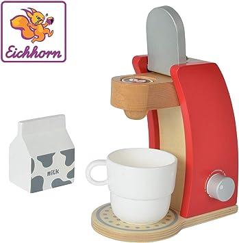 Eichhorn 100002489 – Cafetera de Madera, Incluye Taza, Leche Caja ...