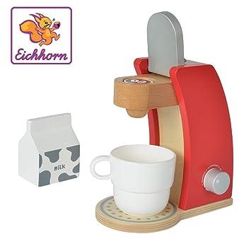 Eichhorn 100002489 - Cafetera de Madera, Incluye Taza, Leche Caja ...