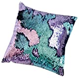 16'x16' with INSERT Mermaid Sequin Cushion with Color Changing, Reversible Flip Sequins. Perfect Throw Cushion Pillow for Home Decor, Car Seat, Office and Gifts for all Occasions