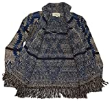 Polo Ralph Lauren Denim Supply Southwestern Indian Cardigan Sweater Blue Medium