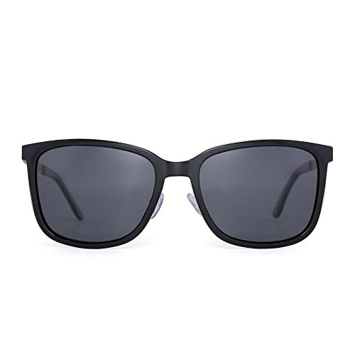 Lightweight Polarized Sunglasses Vintage Large Gradient Eyeglasses Women  Men (Shiny Black Polarized Grey) 8f83d6a5c6