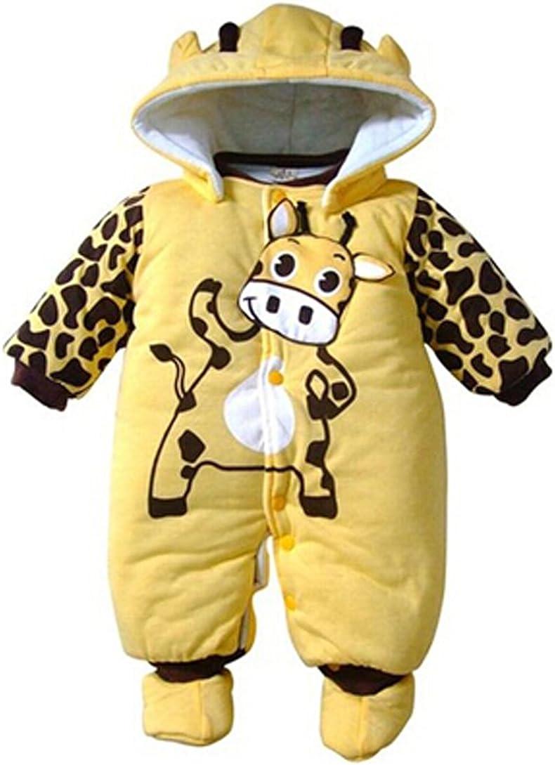 Popbop Unisex Baby Strampelanzug Overall mit Kapuze