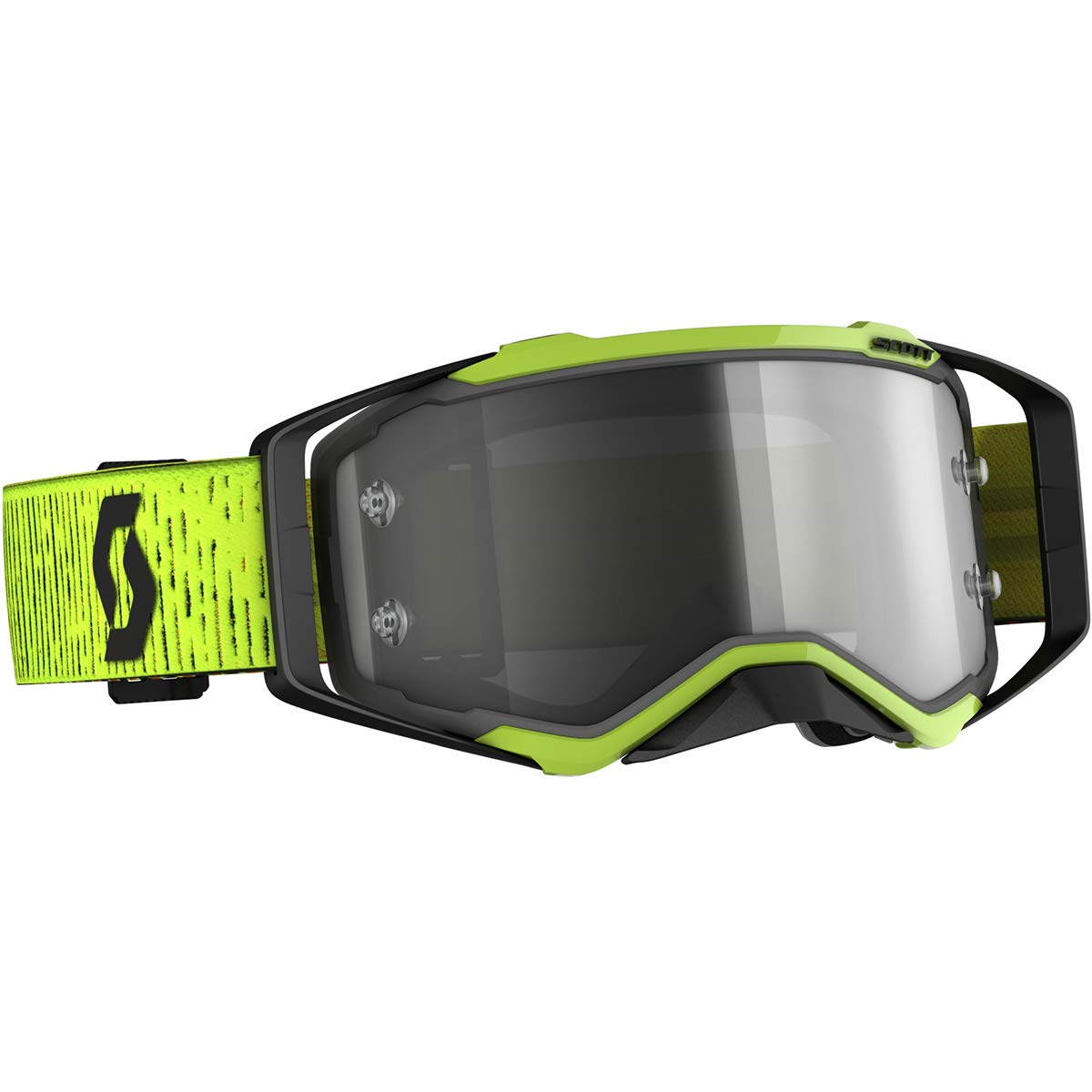 Scott Prospect LS Adult Off-Road Motorcycle Goggles - Black/Yellow/Light Sensitive Grey Works/One Size