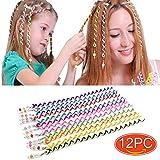 Elesa Miracle 12pc Teens Girl Kids Hair Braid Twister Clips Braider Tool Kids Party Favor Hair Design