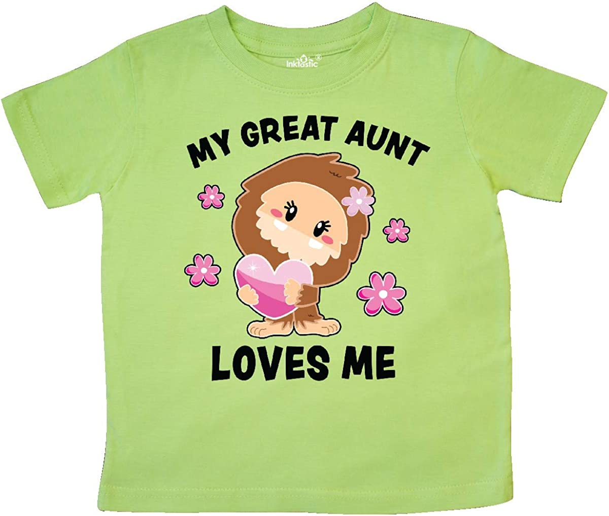 inktastic My Great Aunt Loves Me with Bigfoot Toddler T-Shirt