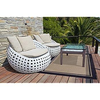 Gertmenian Furman Prime Contemporary Outdoor Furniture Rug, 5x7 Standard,  Navy Blue