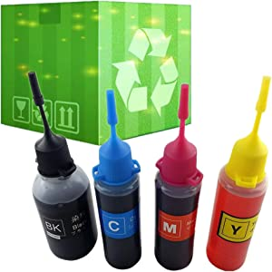 J2INK 4x50ml Refill Ink for HP 910 910XL Ink Cartridge OfficeJet 8035 8028 8025 8022 8020