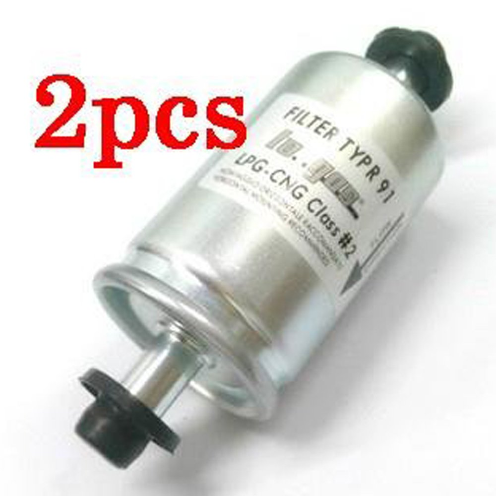 Logas 2pcs Low pressure LPG/CNG Gas Filter for all regulator and injection rail cars Lo.gas