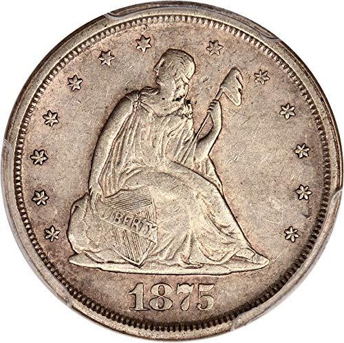 1875 S 20-Cent Pieces Twenty Cent Piece AU55 PCGS
