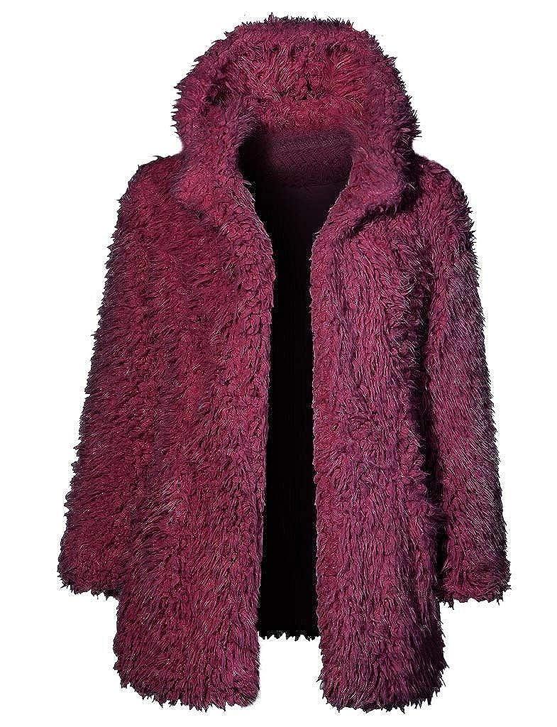 ❤ Abrigo de Felpa de Las Mujeres, de Manga Larga de Invierno cálido con Capucha Outwear Casual Up Coat Tops Absolute: Amazon.es: Ropa y accesorios