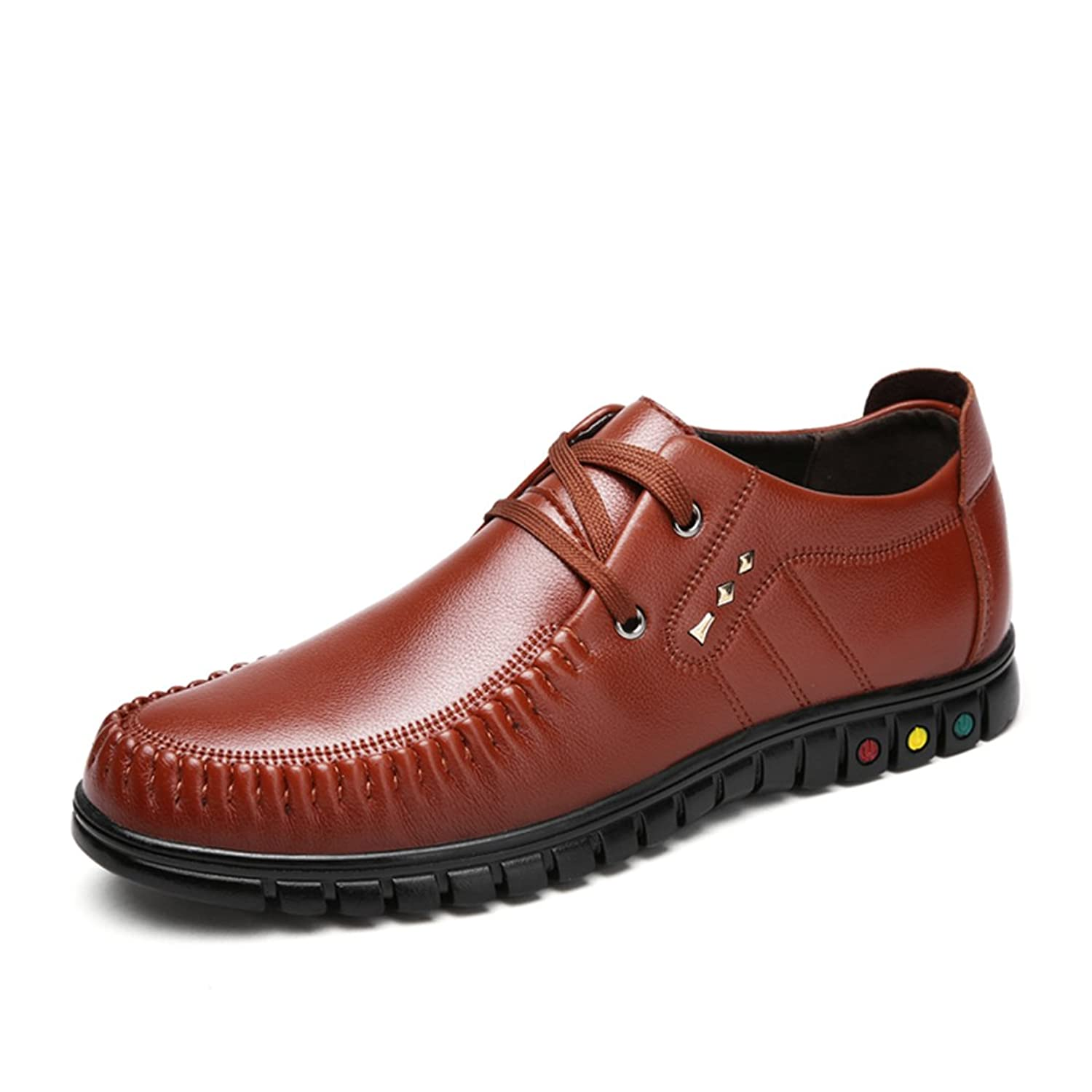 XIAFEN Men's New Style Lace-Up Comfortable Nice Look Fashion Dress Oxfords Shoes