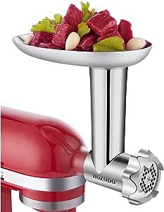 HOZODO Molinillo de Metal para Carne, Compatible con mezcladores de Soporte de Cocina, Accesorios de Mezclador Resistentes como procesador de Alimentos: Amazon.es