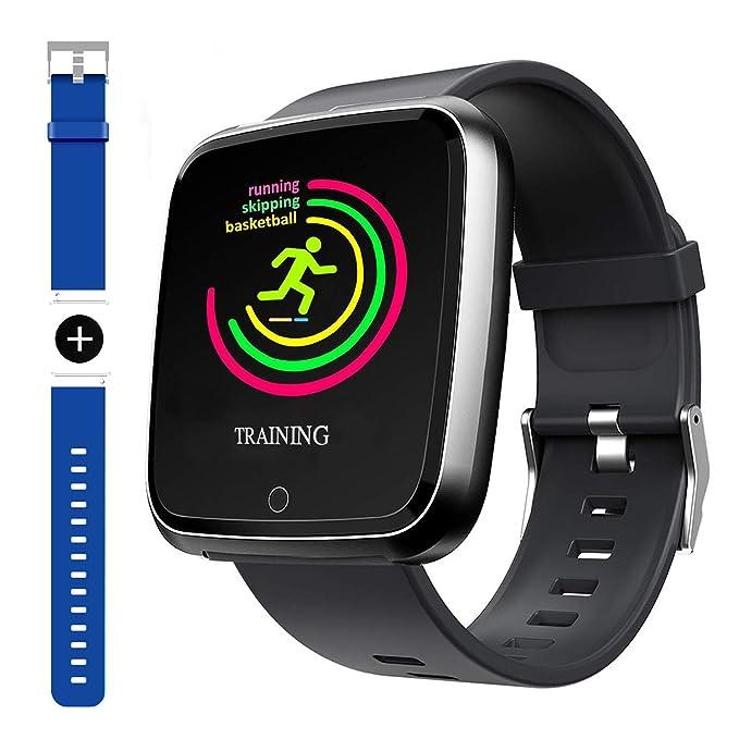 90f8e4b25 Smart Watch, Sport Waterproof Smartwatch, Fitness Tracker with Heart Rate  Blood Pressure,Blood