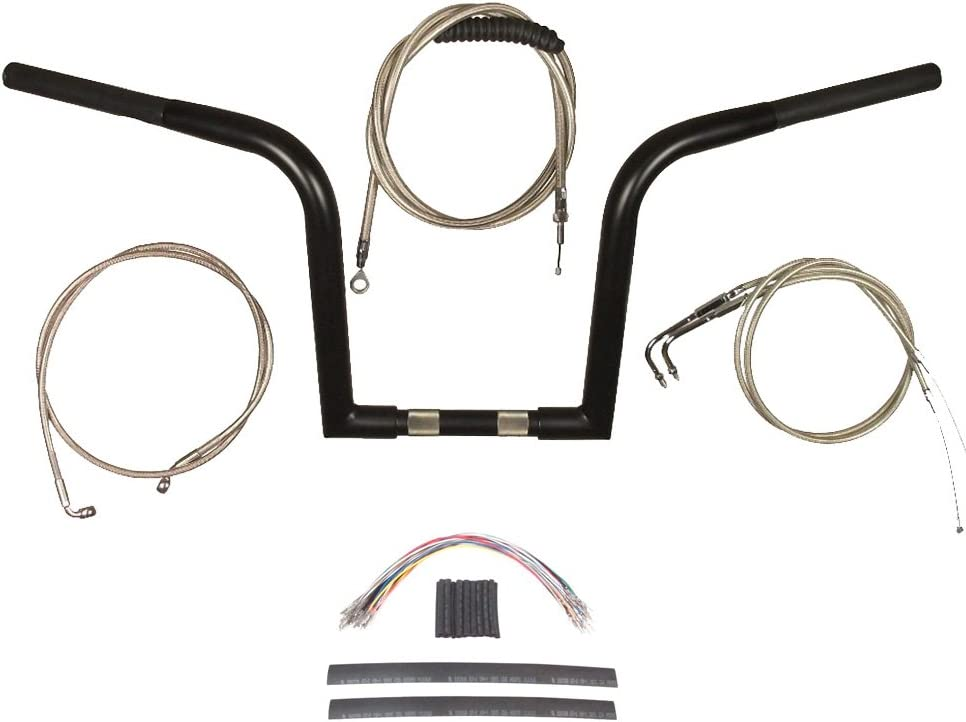 """4/"""" Cable /& Brake Line Bsc Kit 1996-2005 Harley-Davidson Dyna Stainless"""