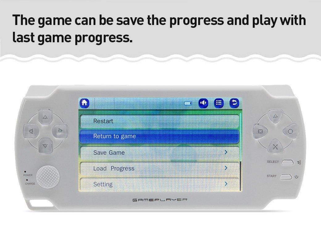 CZT 4,3 pouces /à /écran tactile 8 Go console de jeux Consoles de jeux Console de jeux vid/éo construire en 1200 jeu sans r/épression pour PS1//Arcad//flash//gba//fc//gbc//smd//sfc MP3//4 noir