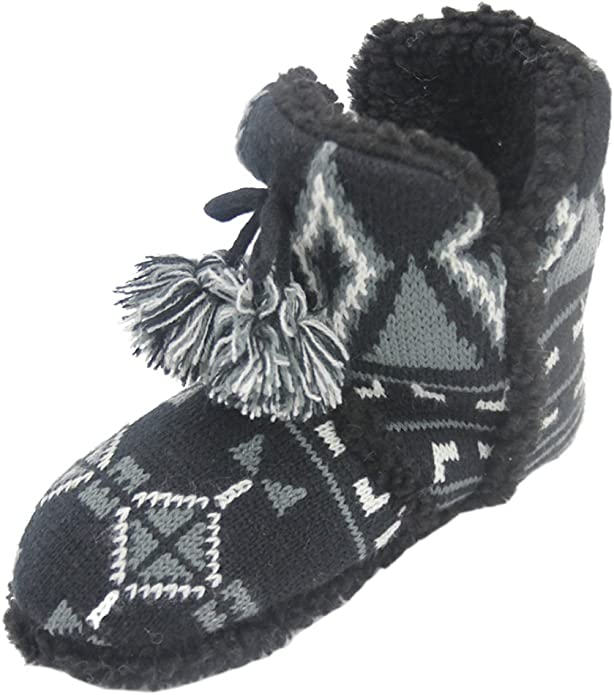 Home Slipper Womens Winter Warm Faux Fur Indoor House Boot Slippers Shoes