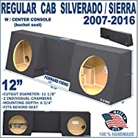 07-16 Regular Single Cab 12 Truck Sub Box Subwoofer Enclosure with Center Console