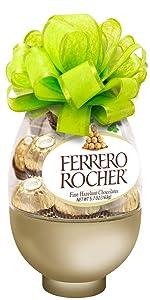 Ferrero Rocher Fine Hazelnut Milk Chocolate, 13 Count Easter Egg, Chocolate Candy Gift Box, Easter Basket Stuffers