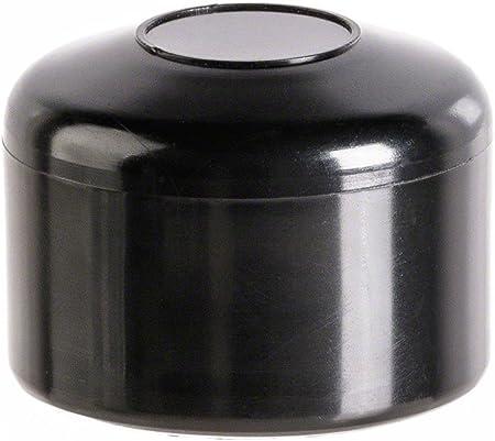 capuchon pour poteau rond 42 noir Bouchons tube Embout cloture 5 pcs