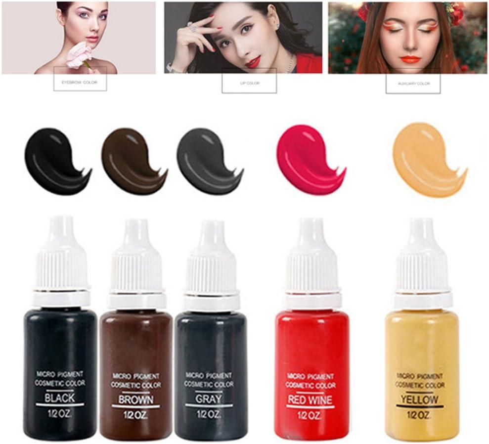 5 Colores Maquillaje Permanente Pigmentos Microblading Pintura De ...