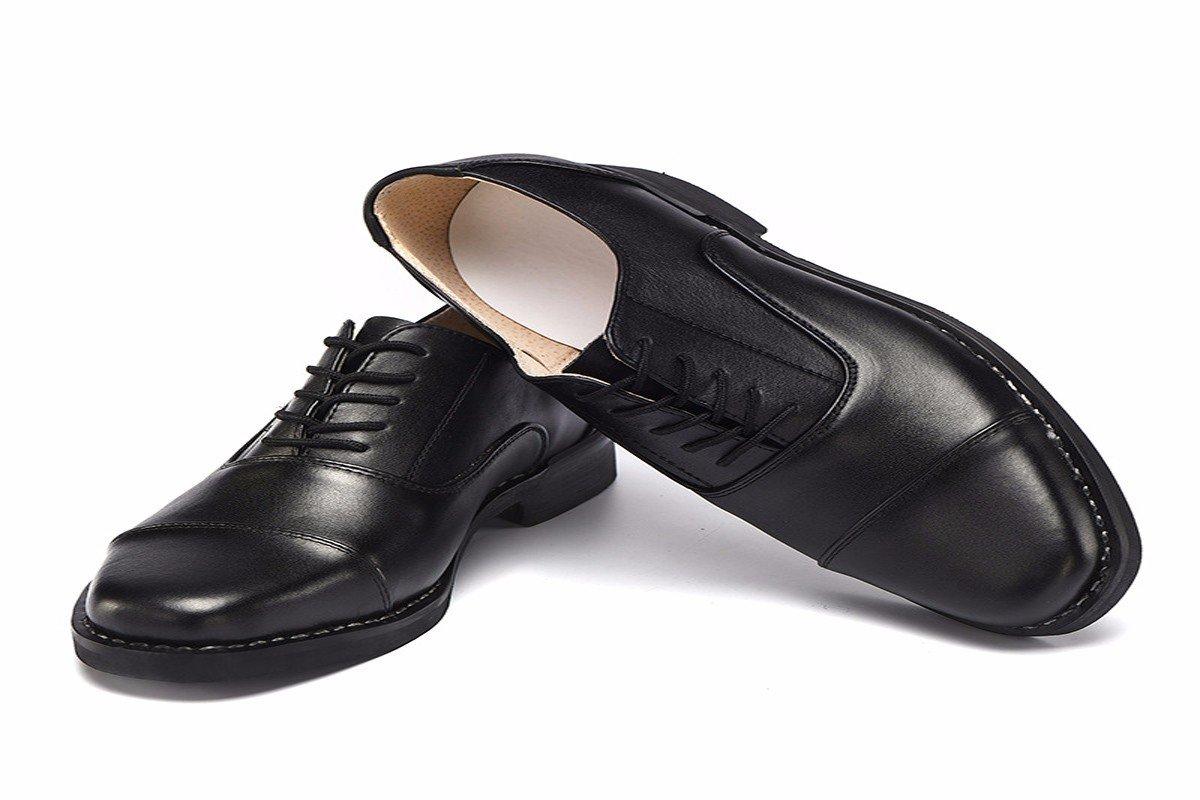 KMJBS-Los Hombres De Negocios De Tres Articulaciones Zapatos De Cuero Zapatos De Cuero Tie Black Cuarenta Y Tres Forty-three|black