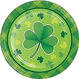 Creative Converting St. Patrick's Day Shamrock Plaid Dessert Plates 8 Count