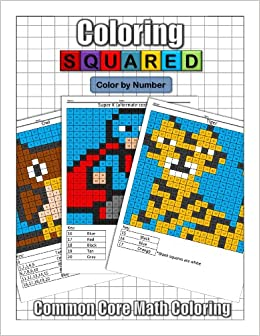 coloring squared color by number cameron krantzman 9781939668097 amazoncom books - Color By Number Books
