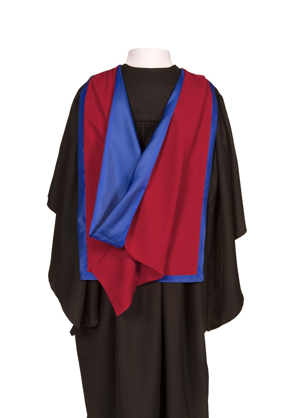Graduation Attire Academic Hood (Full Shape) (Maroon with Royal Blue)