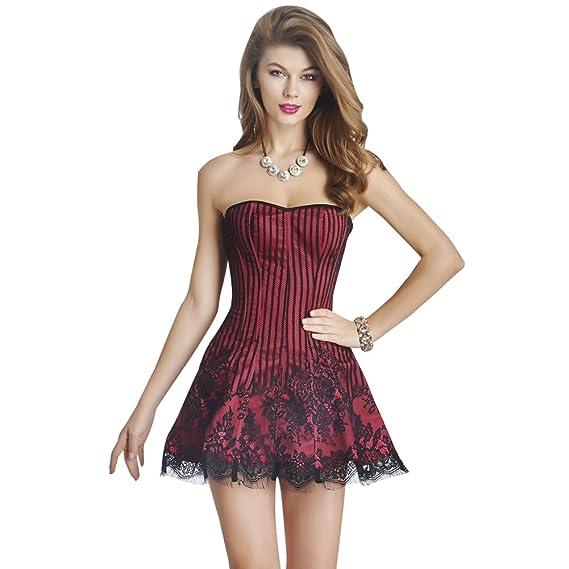 Beauty Lover - Corsé - para Mujer Rojo Rosso M: Amazon.es: Ropa y ...