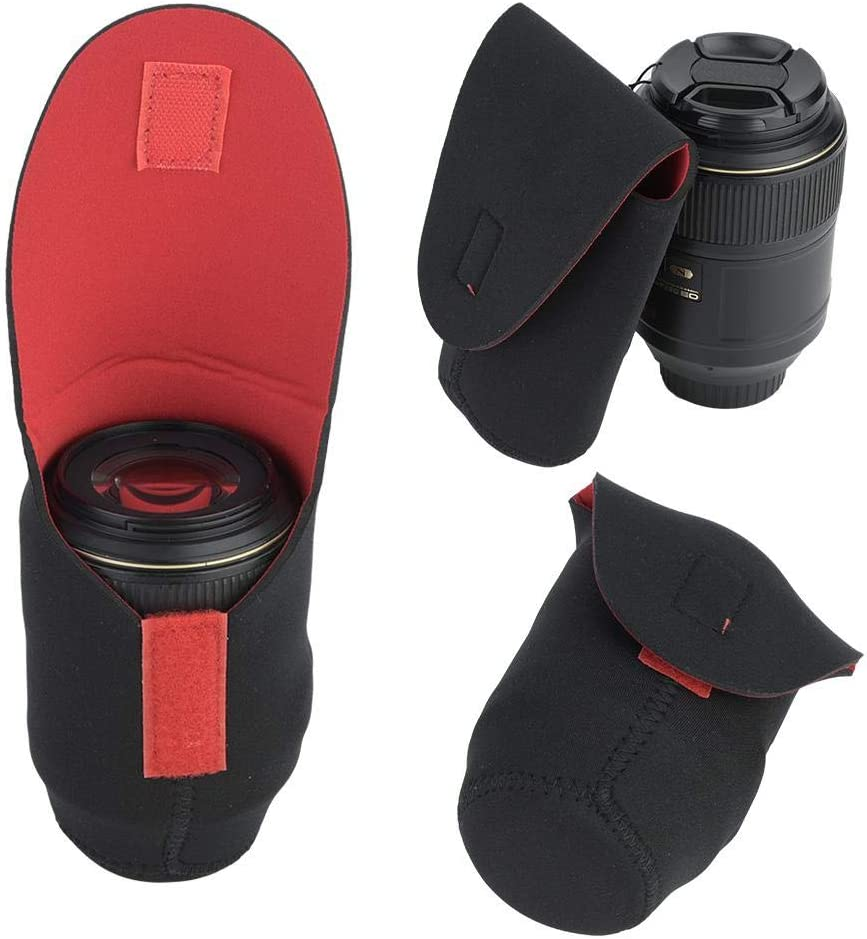 Large Medium 5 Pcs Lens Protective Case Lens Pouch Bag Set Padded Shockproof Storage Pouch for DSLR Camera Lens Includes: Small XL XXL arge Size