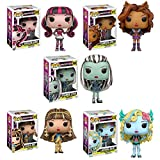 Monster High Toy Funko Pop Dolls Figures Combo Set - 5 Pack