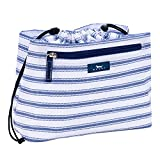 SCOUT Glam Squad Makeup & Cosmetic Bag, Cinch-Top Closure, 4 Open Pockets, Water Resistant, Blue Book