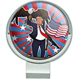 GRAPHICS & MORE Patriotic Donald Trump with Eagle American Flag Gun Golf Hat Clip with Magnetic Ball Marker