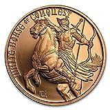 #3: White Horse of Conquest 1 oz .999 Pure Copper Challenge Coin