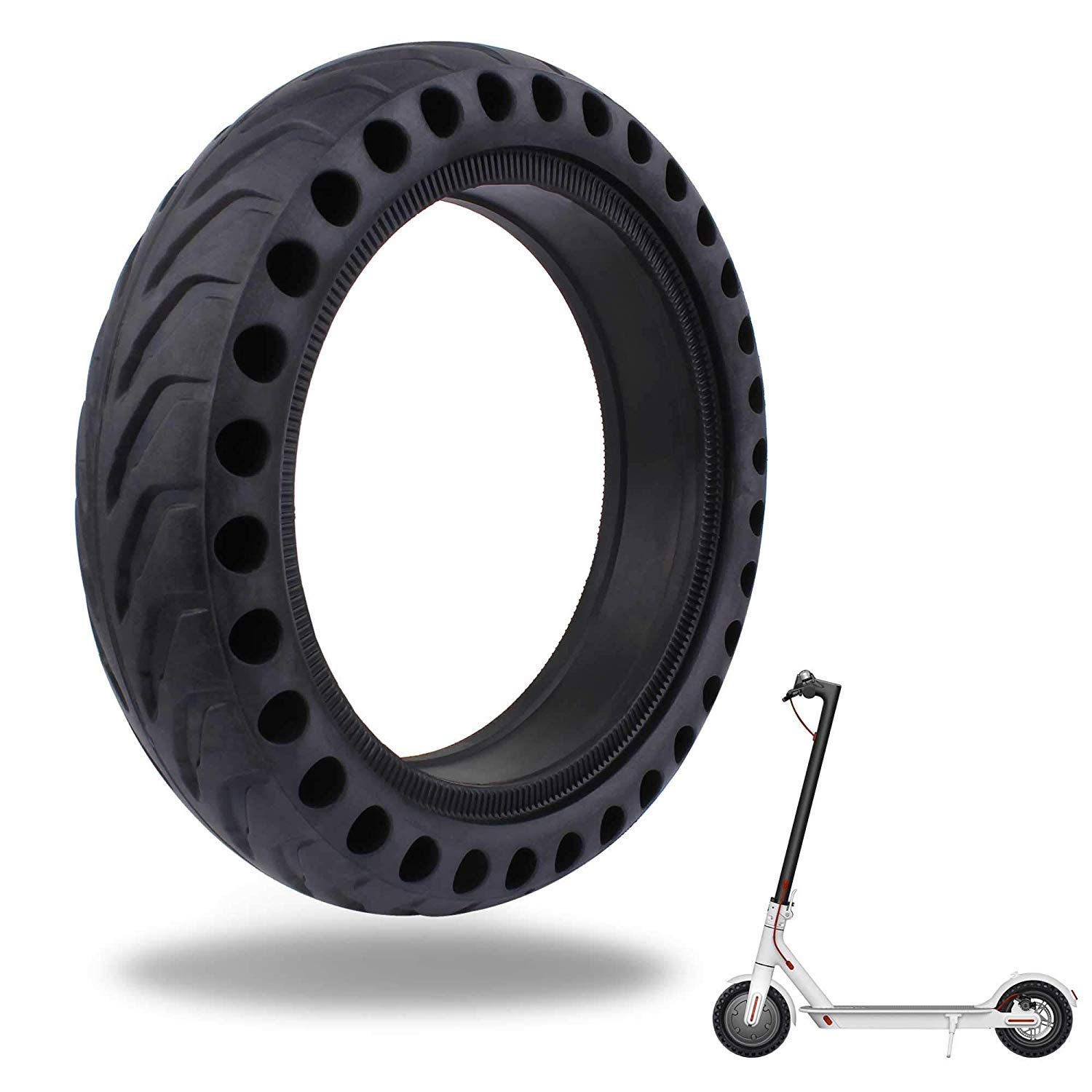 LuYang Solid Tire Replacement for Electric Scooter Xiaomi Mi m365 / gotrax gxl V2, 8.5 inches Scooter Wheel's Replacement Explosion-Proof Solid Tire for Xiaomi Mijia M365 / GOTRAX GXL V2【One Piece】