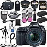 Canon EOS 5D Mark IV DSLR Camera with 24-70mm f/4L Lens 1483C018 + LPE-6 Lithium Ion Battery Bundle